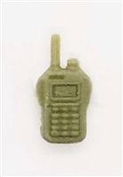 Radio Walkie Talkie: OLIVE GREEN Version - 1:18 Scale MTF Accessory for 3 3/4 Inch Action Figures