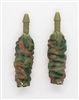 "Female Forearms: CAMO OLIVE GREEN Cloth Forearms (NO Armor) - Right AND Left (Pair) - 1:18 Scale MTF Vakyries Accessory for 3-3/4"" Action Figures"