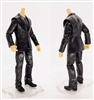 "PRE-ORDER: MTF Male Trooper Body WITHOUT Head - BLACK SUIT & GRAY SHIRT  ""Agency-Ops"" LIGHT Skin Tone - 1:18 Scale Marauder Task Force Action Figure"