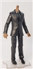 "MTF Male Trooper Body WITHOUT Head - BLACK SUIT & GRAY SHIRT  ""Agency-Ops"" DARK Skin Tone - 1:18 Scale Marauder Task Force Action Figure"