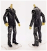 "PRE-ORDER: MTF Male Trooper Body WITHOUT Head - BLACK SUIT & GRAY SHIRT  ""Agency-Ops"" LIGHT TAN Skin Tone - 1:18 Scale Marauder Task Force Action Figure"