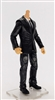 "PRE-ORDER: MTF Male Trooper Body WITHOUT Head - BLACK SUIT & WHITE SHIRT  ""Agency-Ops"" Light Skin Tone - 1:18 Scale Marauder Task Force Action Figure"