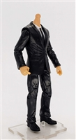 "MTF Male Trooper Body WITHOUT Head - BLACK SUIT & WHITE SHIRT  ""Agency-Ops"" Light Skin Tone - 1:18 Scale Marauder Task Force Action Figure"