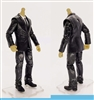 "PRE-ORDER: MTF Male Trooper Body WITHOUT Head - BLACK SUIT & WHITE SHIRT  ""Agency-Ops"" LIGHT TAN Skin Tone - 1:18 Scale Marauder Task Force Action Figure"