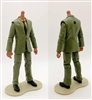 "MTF Male Trooper Body WITHOUT Head - GREEN SUIT & TAN SHIRT with BLACK Tie ""Agency-Ops"" TAN Skin Tone - 1:18 Scale Marauder Task Force Action Figure"