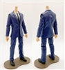 "PRE-ORDER: MTF Male Trooper Body WITHOUT Head - BLUE SUIT & WHITE SHIRT with BLACK Tie ""Agency-Ops"" LIGHT Skin Tone - 1:18 Scale Marauder Task Force Action Figure"