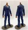 "PRE-ORDER: MTF Male Trooper Body WITHOUT Head - BLUE SUIT & WHITE SHIRT with BLACK Tie ""Agency-Ops"" TAN Skin Tone - 1:18 Scale Marauder Task Force Action Figure"
