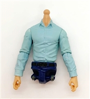 PRE-ORDER: MTF Male Trooper Dress Shirt Torso (NO Legs OR Head): LIGHT BLUE Version with LIGHT Skin Tone - 1:18 Scale Marauder Task Force Accessory