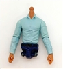 PRE-ORDER: MTF Male Trooper Dress Shirt Torso (NO Legs OR Head): LIGHT BLUE Version with TAN Skin Tone - 1:18 Scale Marauder Task Force Accessory