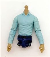 PRE-ORDER: MTF Male Trooper Dress Shirt Torso (NO Legs OR Head): LIGHT BLUE Version with LIGHT TAN Skin Tone - 1:18 Scale Marauder Task Force Accessory