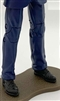 "Male Legs: BLUE Agency Ops DRESS SUIT Legs - Right AND Left Pair-NO WAIST-LEGS ONLY - 1:18 Scale MTF Accessory for 3-3/4"" Action Figures"