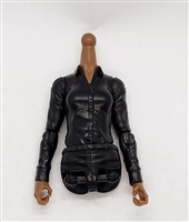 MTF Female Valkyries Dress Shirt Torso (NO Legs OR Head): BLACK Version with DARK Skin Tone - 1:18 Scale Marauder Task Force Accessory