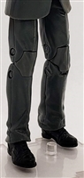 "PRE-ORDER: Male Legs: GRAY Agency Ops DRESS SUIT Legs - Right AND Left Pair-NO WAIST-LEGS ONLY - 1:18 Scale MTF Accessory for 3-3/4"" Action Figures"