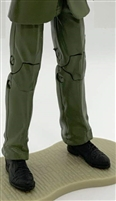 "PRE-ORDER: Male Legs: GREEN Agency Ops DRESS SUIT Legs - Right AND Left Pair-NO WAIST-LEGS ONLY - 1:18 Scale MTF Accessory for 3-3/4"" Action Figures"