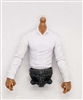 PRE-ORDER: MTF Male Trooper Dress Shirt Torso (NO Legs OR Head): WHITE Version with TAN Skin Tone - 1:18 Scale Marauder Task Force Accessory