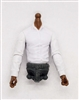 PRE-ORDER: MTF Male Trooper Dress Shirt Torso (NO Legs OR Head): WHITE Version with DARK Skin Tone - 1:18 Scale Marauder Task Force Accessory