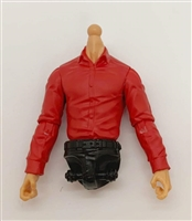 PRE-ORDER: MTF Male Trooper Dress Shirt Torso (NO Legs OR Head): RED Version with LIGHT Skin Tone - 1:18 Scale Marauder Task Force Accessory