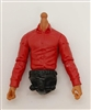 PRE-ORDER: MTF Male Trooper Dress Shirt Torso (NO Legs OR Head): RED Version with TAN Skin Tone - 1:18 Scale Marauder Task Force Accessory