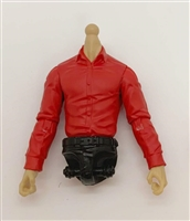 PRE-ORDER: MTF Male Trooper Dress Shirt Torso (NO Legs OR Head): RED Version with LIGHT TAN Skin Tone - 1:18 Scale Marauder Task Force Accessory