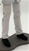 "Male Legs: WHITE Agency Ops DRESS SUIT Legs - Right AND Left Pair-NO WAIST-LEGS ONLY - 1:18 Scale MTF Accessory for 3-3/4"" Action Figures"