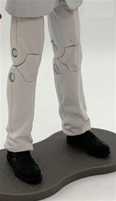"PRE-ORDER: Male Legs: WHITE Agency Ops DRESS SUIT Legs - Right AND Left Pair-NO WAIST-LEGS ONLY - 1:18 Scale MTF Accessory for 3-3/4"" Action Figures"