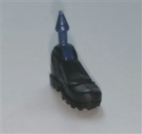 "Footwear: Left Black Boot with Black Armor - 1:18 Scale MTF Accessory for 3-3/4"" Action Figures"
