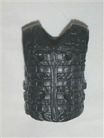 "Male Vest: Tactical Type BLACK Version - 1:18 Scale Modular MTF Accessory for 3-3/4"" Action Figures"