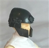 "Headgear: Tactical Helmet BLACK Version - 1:18 Scale Modular MTF Accessory for 3-3/4"" Action Figures"