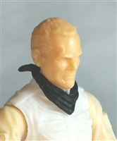 "Headgear: Standard Neck Scarf BLACK Version - 1:18 Scale Modular MTF Accessory for 3-3/4"" Action Figures"