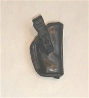 "Pistol Holster: Small Right Handed BLACK Version - 1:18 Scale Modular MTF Accessory for 3-3/4"" Action Figures"