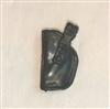 "Pistol Holster: Small Left Handed BLACK Version - 1:18 Scale Modular MTF Accessory for 3-3/4"" Action Figures"