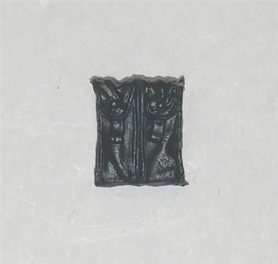 "Ammo Pouch: Double Magazine BLACK Version - 1:18 Scale Modular MTF Accessory for 3-3/4"" Action Figures"