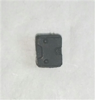 "Armor Panel: Small Size BLACK Version - 1:18 Scale Modular MTF Accessory for 3-3/4"" Action Figures"