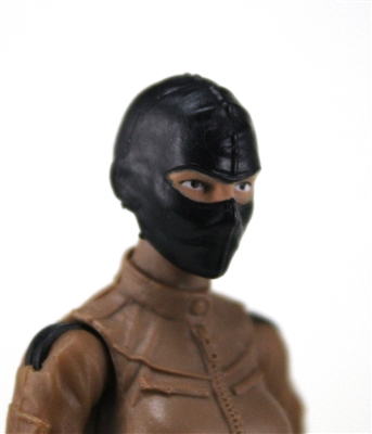 "Female Head: Balaclava Mask BLACK Version - 1:18 Scale MTF Valkyries Accessory for 3-3/4"" Action Figures"