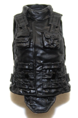"Female Vest: High Collar Type Black Version - 1:18 Scale Modular MTF Valkyries Accessory for 3-3/4"" Action Figures"
