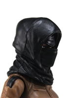 "Headgear: Hood BLACK Version - 1:18 Scale Modular MTF Accessory for 3-3/4"" Action Figures"