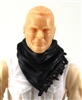 "Headgear: Large Neck Scarf ""Shemagh"" BLACK Version - 1:18 Scale Modular MTF Accessory for 3-3/4"" Action Figures"