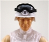 "Headgear: Large Goggles BLACK Version with SMOKE Tint - 1:18 Scale Modular MTF Accessory for 3-3/4"" Action Figures"