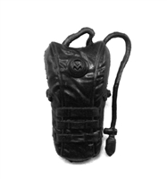 "Camel Hydration Pack: BLACK Version - 1:18 Scale Modular MTF Accessory for 3-3/4"" Action Figures"