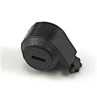 Steady-Cam Gun: Ammo Drum BLACK Version - 1:18 Scale Weapon Accessory for 3 3/4 Inch Action Figures