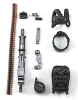 Steady-Cam Gun Gun-Metal DELUXE Set: Black Version - 1:18 Scale Weapon Set for 3 3/4 Inch Action Figures
