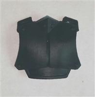 "Armor Chest Plate: BLACK Version - 1:18 Scale Modular MTF Accessory for 3-3/4"" Action Figures"