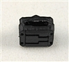 "MOUNT for Ammo Belt: ALL BLACK Version - 1:18 Scale Modular MTF Accessory for 3-3/4"" Action Figures"