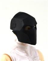"Armor Mask: BLACK Version - 1:18 Scale Modular MTF Accessory for 3-3/4"" Action Figures"