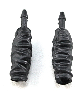 Female Forearms: Black Cloth Forearms (NO Armor) - Right AND Left (Pair) - 1:18 Scale MTF Vakyries Accessory for 3-3/4