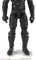 "Male Legs: Black Cloth Legs (NO Armor) - Right AND Left Pair-NO WAIST-LEGS ONLY - 1:18 Scale MTF Accessory for 3-3/4"" Action Figures"