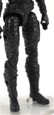 "Female Legs WITH Waist: BLACK Legs  - Right AND Left Legs WITH Waist - 1:18 Scale MTF Valkyries Accessory for 3-3/4"" Action Figures"