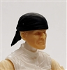"Headgear: ""Bandana"" Head Cover BLACK Version - 1:18 Scale Modular MTF Accessory for 3-3/4"" Action Figures"