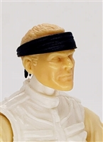 "Headgear: Headband BLACK Version - 1:18 Scale Modular MTF Accessory for 3-3/4"" Action Figures"