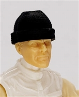 "Headgear: Knit Cap ""Ski Hat"" BLACK Version - 1:18 Scale Modular MTF Accessory for 3-3/4"" Action Figures"